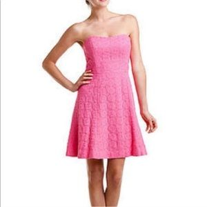 Lilly Pulitzer Vicki Lace Dress in Hotty Pink 2